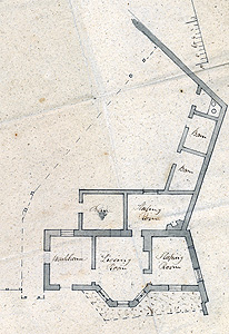 Plan of Ivy Lodge as first built [RBox818/19/24]